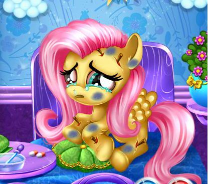 Little Fluttershy At The Hospital Game