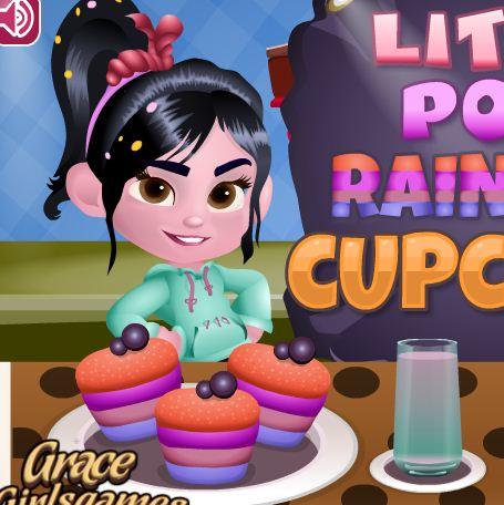 Little Pony Rainbow Cupcakes Game