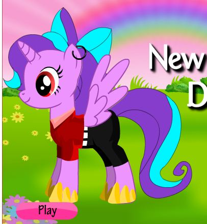 New Little Pony Dress Up Game