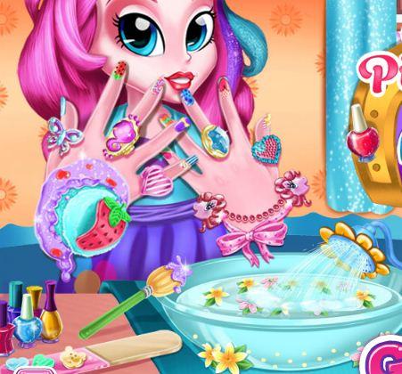 Pinkie Pie Nails Spa Game