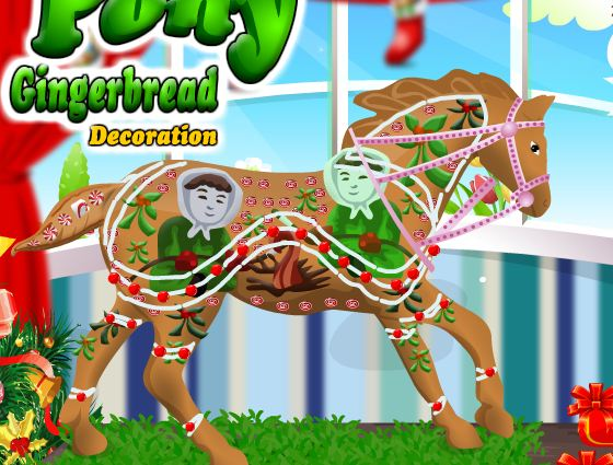 Pony Gingerbread Decoration Game