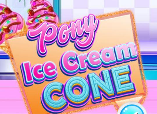 Pony Ice Cream Cone Game
