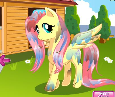 Pony Makeover Hair Salon Game