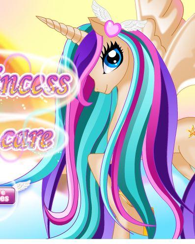 Pony Princess Hair Care Game