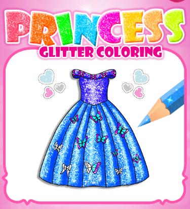 Princess Glitter Coloring Game