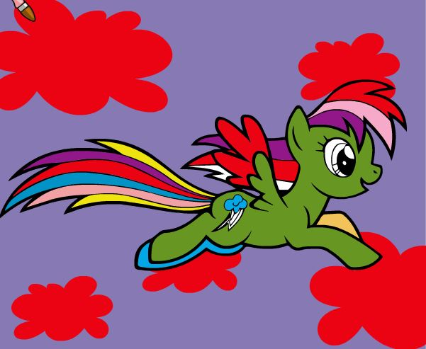 Rainbow Dash Coloring Game