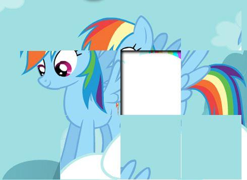 Rainbow Dash Puzzles Game