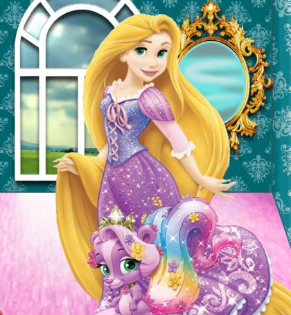 Rapunzel Meadow Palace Pets Game