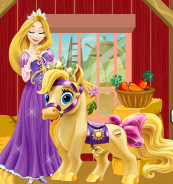 Rapunzel Pony Care Game
