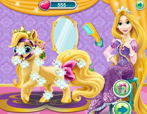 Rapunzel's Messy Pony Game