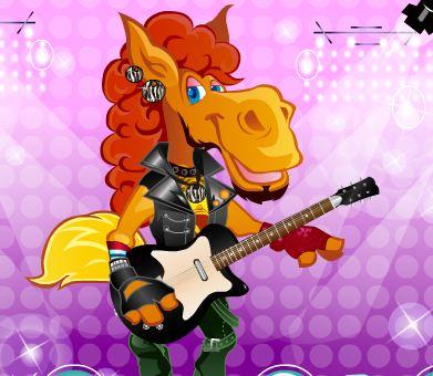 Rock Star Horse Dress Up Game