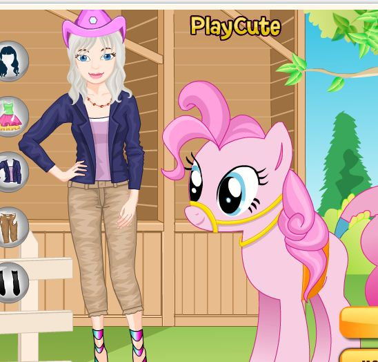 Rosie With Her Pony Game
