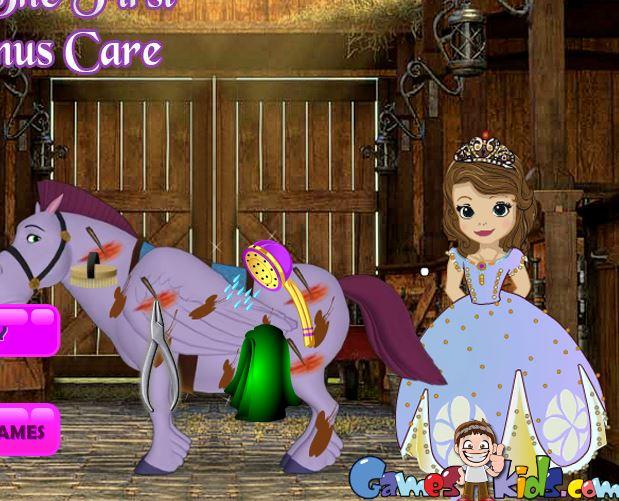 Sofia The First Minimus Care Game