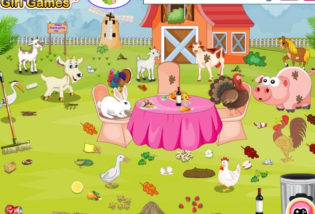 Thanksgiving Day Farm House Cleaning Game