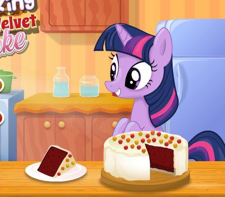 Twilight Sparkle Cooking Red Velvet Cake Game