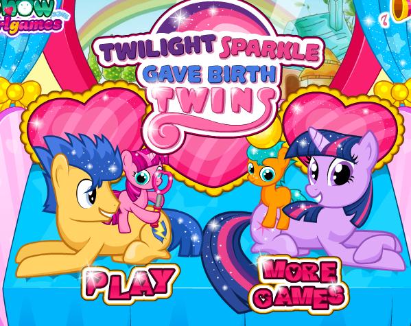 Twilight Sparkle Gave Birth Twins Game