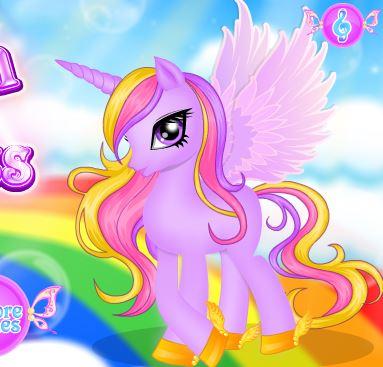 Unicorn Princess Hair Salon Game