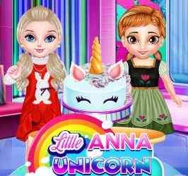 Little Anna Unicorn Cake Make Game